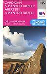 O.S. Landranger 145 Cardigan and Mynydd Preseli/Aberteifi a Mynydd Preseli