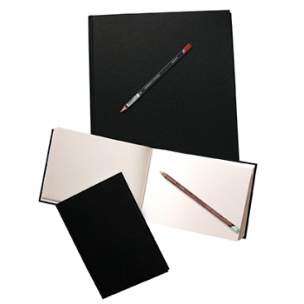 Llyfr tynnu llun eboni A4 (Daler Rowney Ebony Casebound A4 sketch book)