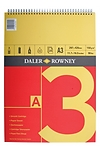Pad llunio A3 coch/melyn (Daler Rowney series A spiral pad A3 red/yellow)