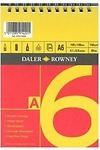 Pad llunio A6 coch/melyn (Daler Rowney series A spiral pad A6 red/yellow)