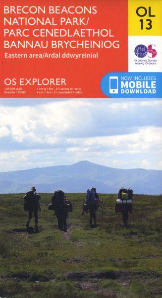 O.S. Explorer Ol 13 Brecon Beacons National Park Eastern Area/Parc Cenedlaethol Bannau Brycheiniog Ardal Ddwyreiniol