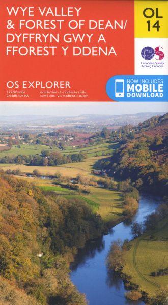 O.S. Explorer Ol 14 Wye Valley and the Forest of Dean/Dyffryn Gwy a Fforest y Ddena