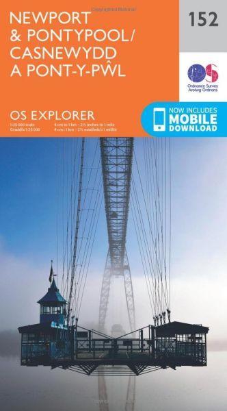 O.S. Explorer 152 Newport & Pontypool/Casnewydd a Pont-y-Pwl