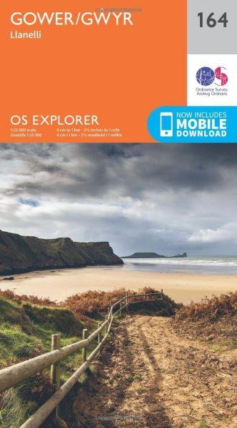 O.S. Explorer 164 Gower/Gwyr: Llanelli