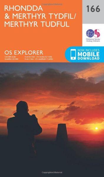 O.S. Explorer 166 Rhondda & Merthyr Tydfil/Merthyr Tudful