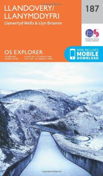 O.S. Explorer 187 Llandovery/Llanymddyfri