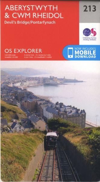 O.S. Explorer 213 Aberystwyth & Cwm Rheidol