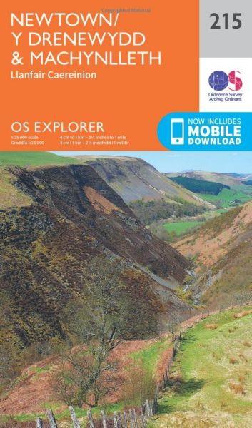 O.S. Explorer 215 Newtown/Y Drenewydd & Machynlleth