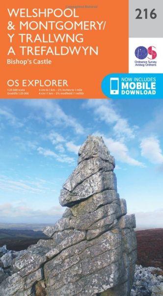 O.S. Explorer 216 Welshpool & Montgomery/Y Trallwng a Trefaldwyn
