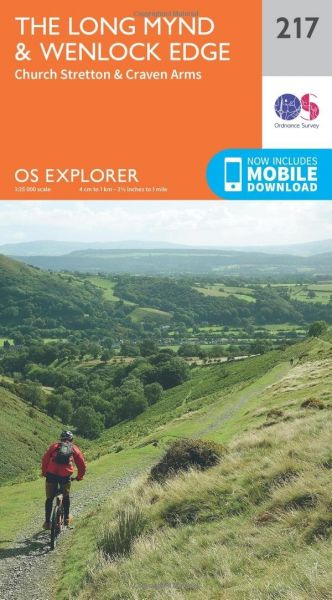 O.S. Explorer 217 the Long Mynd & Wenlock Edge