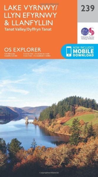 O.S. Explorer 239 Lake Vyrnwy/Llyn Efyrnwy & Llanfyllin