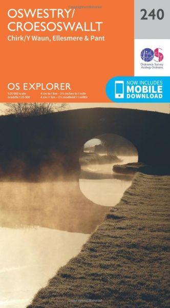 O.S. Explorer 240 Oswestry/Croesoswallt