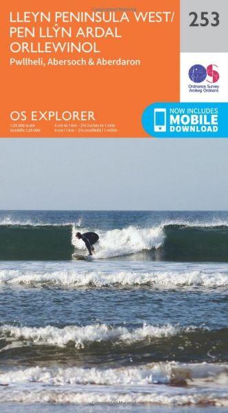 O.S Explorer 253 Lleyn Peninsula West/Pen Llyn Ardal Orllewinol