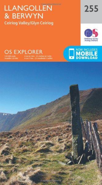 O.S. Explorer 255 Llangollen & Berwyn