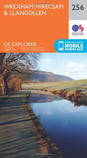 O.S. Explorer 256 Wrexham/Wrecsam & Llangollen