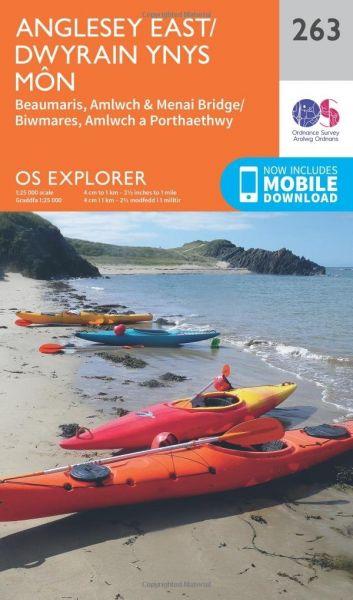 O.S. Explorer 263 Anglesey East/Dwyrain Ynys Mon