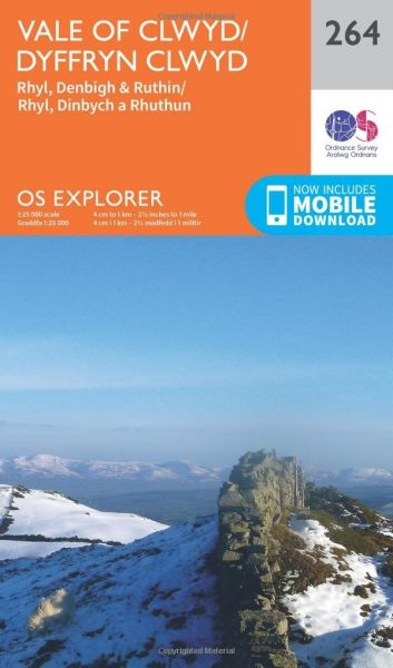 O.S. Explorer 264 Vale of Clwyd/Dyffryn Clwyd
