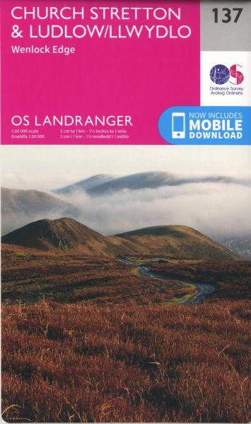 O.S. Landranger 137 Church Stretton and Ludlow, Wenlock Edge /Llwydlo, Wenlock Edge