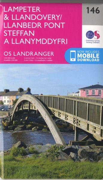 O.S. Landranger 146 Lampeter & Llandovery/Llanbedr Pont Steffan a Llan Ymddyfri