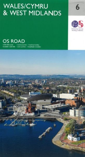 O. S. Road Map - Wales/Cymru & West Midlands