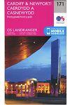 O.S. Landranger 171 Cardiff and Newport, Pontypool /Caerdydd a Casnewydd, Pont-y-Pwl
