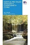 O.S. Tour Map North & Mid Wales/Gogledd a Chanolbarth Cymru
