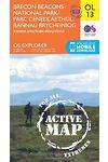 O.S. Explorer OL 13 Active Brecon Beacons National Park Eastern Area / Parc Cenedlaethol Bannau Brycheiniog Ardal Ddwyreiniol