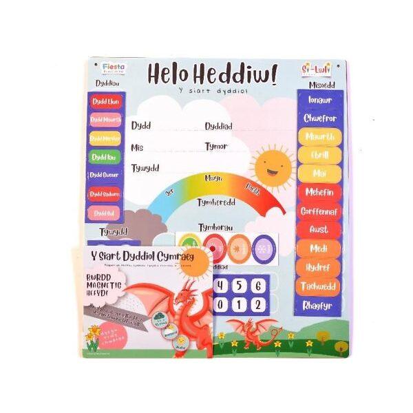 Helo Heddiw! Calendr Magnetig Cymraeg